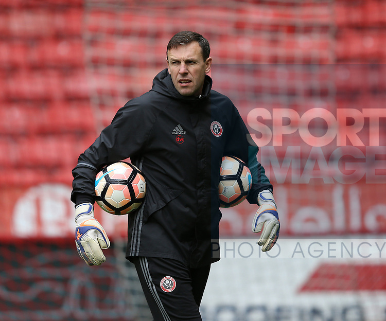 Darren Ward Goalkeeping coach during the Emirates FA Cup Round One match at Bramall Lane Stadium, Sheffield. Picture date: November 6th, 2016. Pic Simon Bellis/Sportimage