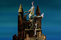 London, UK. 30.03.2018. balletLORENT presents RUMPELSTILTSKIN, the third in their fairy tale trilogy, at Sadler's Wells, as part of the Sadler's Wells Family Weekend. Directed by Liv Lorent, and retold by Poet Laureate Carol Ann Duffy, narrated by Ben Crompton, with costume design by Michele Clapton, and lighting design by Malcolm Rippeth. The cast is: Gavin Coward (Rumpelstiltskin), Natalie Trewinnard (Shepherd's Daughter), John Kendall (King), Toby Fitzgibbons (Shepherd), Virgina Scudeletti (Queen). Photograph © Jane Hobson.