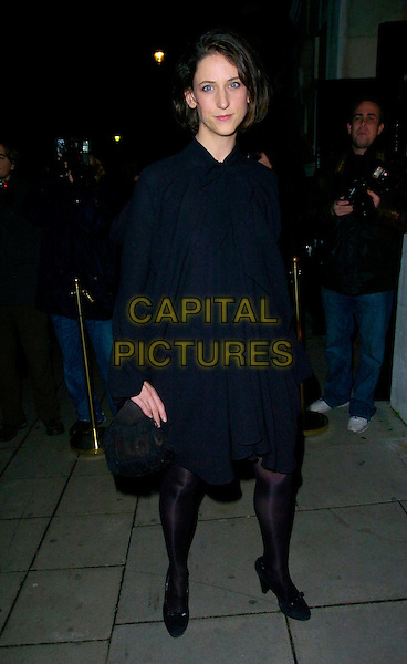 MARIA GRACHVOGEL.Attending the 6th Annual Lancome Colour Design Awards, . held at Linley Hall, Victoria, London, England, .November 28th 2006..full length black coat cape dress tights shoes designer.CAP/CAN.©Can Nguyen/Capital Pictures