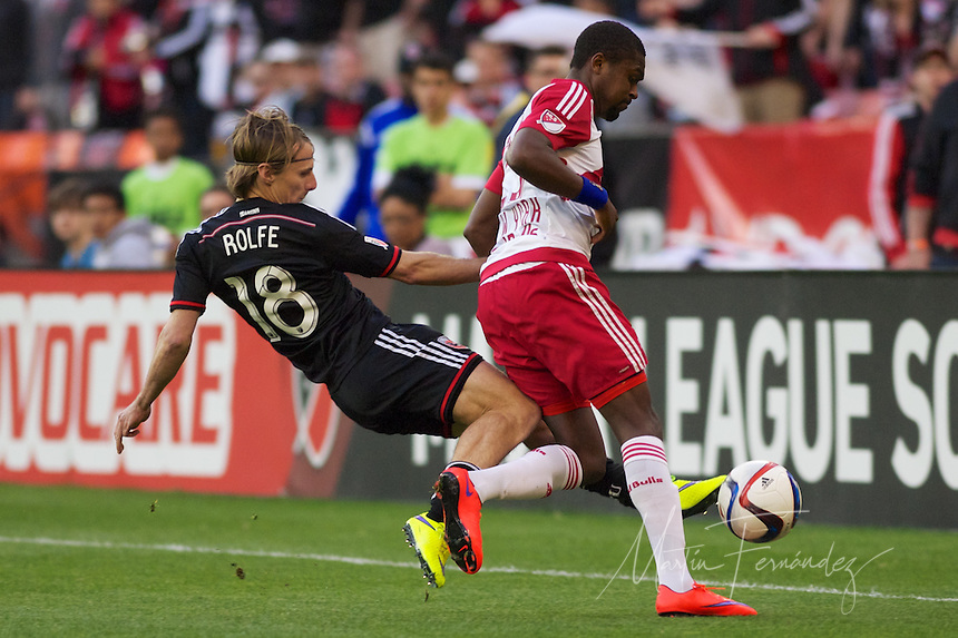 Red Bull NY rallied back to tie DC United 2-2 at RFK Stadium in Washington D.C. on Saturday April 11, 2015.