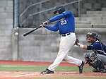 Wildcats' Corey Pool hits against Utah State University Eastern at Western Nevada College in Carson City, Nev., on Saturday, April 25, 2015. <br /> Photo by Cathleen Allison