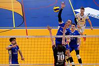 GRONINGEN - Volleybal, Lycurgus - RECO ZVH, halve finale beker, seizoen 2019-2020, 15-1-2020,  smash Lycurgus speler Dennis Borst