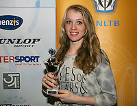 01-12-13,Netherlands, Almere,  National Tennis Center, Tennis, Winter Youth Circuit, Girls 16 years , 7 th place: Romy Kuipers  <br /> Photo: Henk Koster