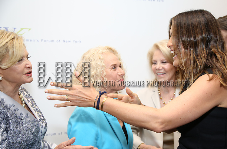 Carolyn B. Maloney, Carole King and Mariska Hargitay attend The 7th Annual Elly Awards at The Plaza Hotel on June 19, 2017 in New York City.