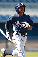 Tampa Bay Rays minor league shortstop Tim Beckham during an Instructional League game vs. the Minnesota Twins at Charlotte Sports Park in Port Charlotte, Florida;  October 5, 2010.  Photo By Mike Janes/Four Seam Images