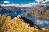 NEW ZEALAND, Wanaka, Jumping for Joy on Roy's Peak, Ben M Thomas