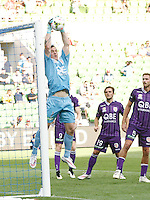 Danny Vukovic  during the  A-League soccer match between Melbourne City FC and Perth Glory at AAMI Park on February 22, 2015 in Melbourne, Australia.