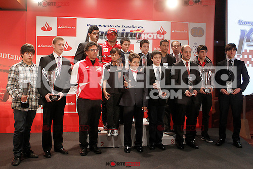 The test driver for Ferrari Pedro de la Rosa and Luca Baldisserri director of the Ferrari Driver Academy during the gala Santander  Karting Champions 2012..(Alterphotos/Acero) NortePhoto