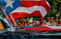 People gather during the Annual National Puerto Rican Day Parade at the Fifth Ave in New York.  06/14/2015. Kena Betancur/VIEWpress