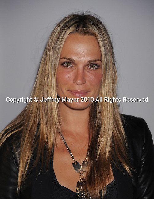 LOS ANGELES, CA. - March 18: Molly Sims arrives at the Ferrari 458 Italia Brings Funds for Haiti Relief event at Fleur de Lys on March 18, 2010 in Los Angeles, California.