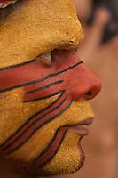 XI Jogos dos Povos Indígenas -  Pataxó da Bahia<br /> O evento, que acontece entre os dias 5 e 12 de novembro, tem como sede o município tocantinense de Porto Nacional, que fica a cerca de 60km da capital, Palmas. São sete dias de competições e apresentações culturais, com a participação de cerca de 1.300 indígenas, de aproximadamente 35 etnias, vindas de todas as regiões do país. São esperados ainda líderes e observadores indígenas de outros países (Argentina, Austrália, Bolívia, Canadá, Equador, EUA, Guiana Francesa, Peru e Venezuela). <br /> Foto Paulo Santos<br /> 08/11/2011<br /> Ilha de Porto Real, Porto Nacional, Brasil