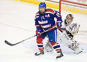 Riley Wetmore (Lowell - 16), Parker Milner (BC - 35) - The Boston College Eagles defeated the visiting University of Massachusetts-Lowell River Hawks 5-3 (EN) on Saturday, January 22, 2011, at Conte Forum in Chestnut Hill, Massachusetts.