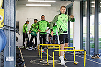 George Byers of Swansea City in the gym during the Swansea City Training Session at The Fairwood Training Ground in Swansea, Wales, UK. Wednesday 16 October 2019