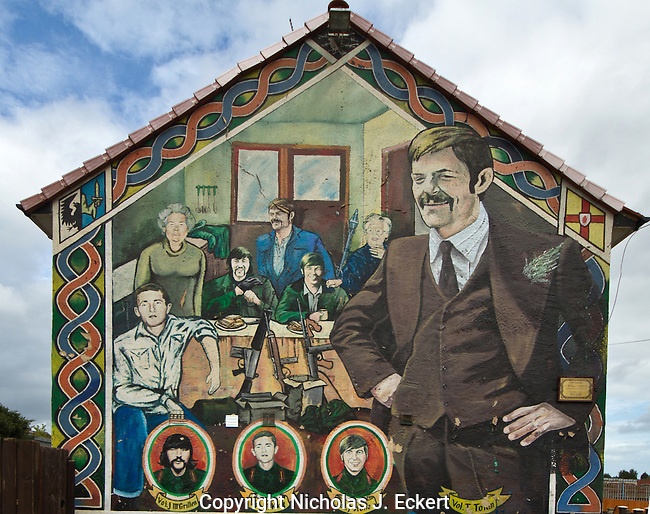 """This Republican mural commemorates an assortment of individuals --now all dead-- who have served """"the Cause."""""""