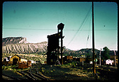 View of Durango coaling tower and yards.<br /> D&amp;RGW  Durango, CO