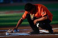 aspecto de el campo de besibol,durante el tercer juego de la serie de el partido Naranjeros de Hermosillo vs Venados de Mazatlan Sonora en el Estadio Sonora. 10 noviembre 2013. Liga Mexicana del Pacifico (MLP)