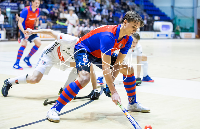 ROTTERDAM  - NK Zaalhockey . finale heren: SCHC-Amsterdam (2-2, SCHC wint shoot-outs) . Thijs van Pelt (SCHC)    COPYRIGHT KOEN SUYK