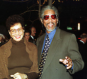 """Morgan Freeman and his wife, Myrna Colley-Lee, arrive at the Warner Theatre for the Washington, D.C. Premiere of his latest movie """"Amistad"""" on December 4, 1997..Credit: Ron Sachs / CNP"""