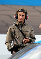 Nov. 13, 2009; Avondale, AZ, USA; Former formula one driver Jarno Trulli in the NASCAR Sprint Cup Series garage during qualifying for the Checker O'Reilly Auto Parts 500 at Phoenix International Raceway. Mandatory Credit: Mark J. Rebilas-