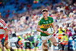 Cian Gammell Kerry in action against Martin Bradley Derry in the All-Ireland Minor Footballl Final in Croke Park on Sunday.