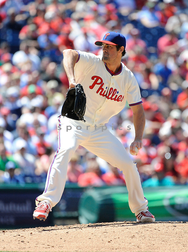 Philadelphia Phillies Cole Hamels (35) during a game against the Miami Marlins on June 5, 2013 at Citizens Bank Park in Philadelphia PA. The Phillies beat the Marlins 6-1.
