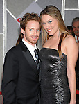 "HOLLYWOOD, CA. - November 09: Seth Green and Clare Grant arrive at the ""Old Dogs"" Premiere at the El Capitan Theatre on November 9, 2009 in Hollywood, California."