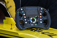 March 15, 2019: The steering wheel from the car of Daniel Ricciardo (AUS) #3 of the Renault F1 Team during practice session two at the 2019 Australian Formula One Grand Prix at Albert Park, Melbourne, Australia. Photo Sydney Low