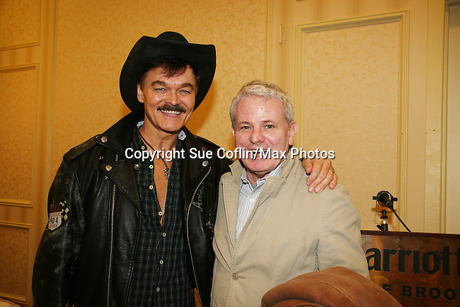 Randy Jones (Village People) and Thomas G.  Waites (The Warriors) both star in the new indie film An Affirmative Act! - a groundbreaking gay marriage courtroom drama on January 21, 2010 at the Marriott Saddle Brook, Saddle Brook, NJ. The film opens the Hoboken International Film Festival in June 2010. (Photo by Sue Coflin/Max Photos)
