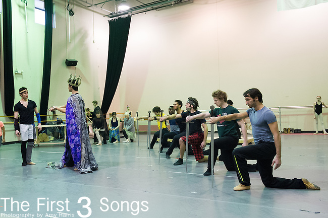 Cincinnati Ballet dancers rehearse for King Arthur's Camelot. The 2013-2014 marks the company's 50th Season in Cincinnati, Ohio.