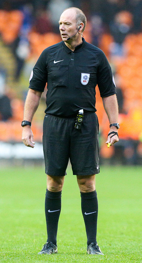 Referee Andy Haines<br /> <br /> Photographer Alex Dodd/CameraSport<br /> <br /> The EFL Sky Bet League One - Blackpool v Wigan Athletic - Saturday 21st October 2017 - Bloomfield Road - Blackpool<br /> <br /> World Copyright &copy; 2017 CameraSport. All rights reserved. 43 Linden Ave. Countesthorpe. Leicester. England. LE8 5PG - Tel: +44 (0) 116 277 4147 - admin@camerasport.com - www.camerasport.com