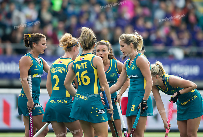 Hockey World Cup 2014<br /> The Hague, Netherlands <br /> Day 3 Womens Australia v Japan<br /> <br /> Photo: Grant Treeby<br /> www.treebyimages.com.au