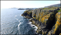 BNPS.co.uk (01202 558833)<br /> Pic: KnightFrank/BNPS<br /> <br /> Sea cliffs...home to otters and seals.<br /> <br /> How the Ulva half live - Escape to your own Scottish island..If you have &pound;4.25 million to spare.<br /> <br /> This stunning Scottish island that inspired writers including Beatrix Potter and Sir Walter Scott has just gone on the market.<br /> <br /> Ulva is the second largest island of the Inner Hebrides at 4,583 acres, but the new owners will have to be happy going back to basics as it can only be reached by ferry, has no tarmac roads and just 16 people live there, mostly farmers.<br /> <br /> It is described by agents Knight Frank as one of the finest private islands in northern Europe and is on the market for the first time in more than 70 years.<br /> <br /> The sale includes a seven-bedroom house, a church, a restaurant and tea room, and eight other properties. There are also farm buildings to support the agricultural and livestock operation.
