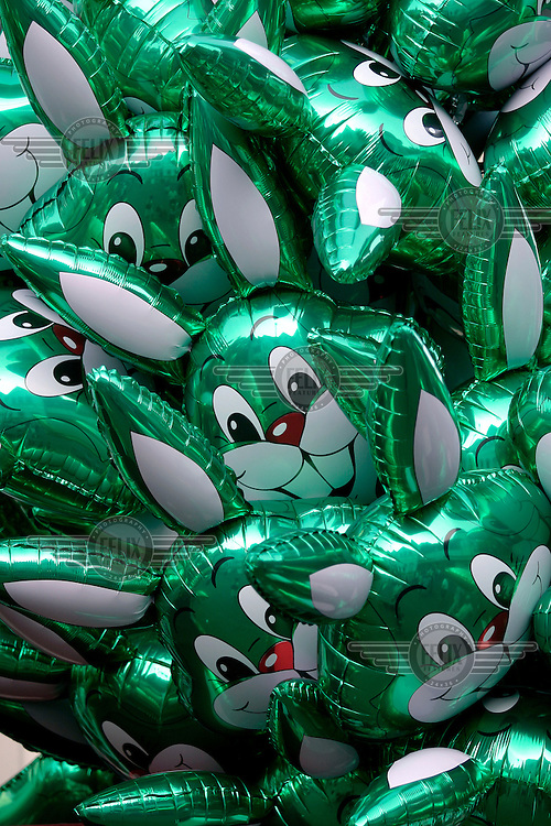 Baloons with the rabbit mascot of Liseberg Amusement Park.