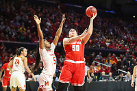 College Park, MD - March 23, 2019: Radford Highlanders center Sydney Nunley (50) attempts a shot during game between Radford and Maryland at  Xfinity Center in College Park, MD.  (Photo by Elliott Brown/Media Images International)
