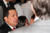 BRASILIA, DF, 01 DE JANEIRO 2011 - Foto de arquivo de 01/01/2011 do presidente venezuelano Hugo Chávez durante posse da Presidente Dilma Rousseff em Brasilia Chávez morreu nesta terça-feira, 5, aos 58 anos. Ele estava internado em um hospital militar de Caracas após passar dois meses em Cuba tratando um câncer. 05/03/2013 FOTO: VANESSA CARVALHO - BRAZIL PHOT PRESS