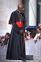 Cardinal Robert Sarah,  Pope Francis  during his weekly general audience on St.Peter's square at the Vatican on September 5, 2018