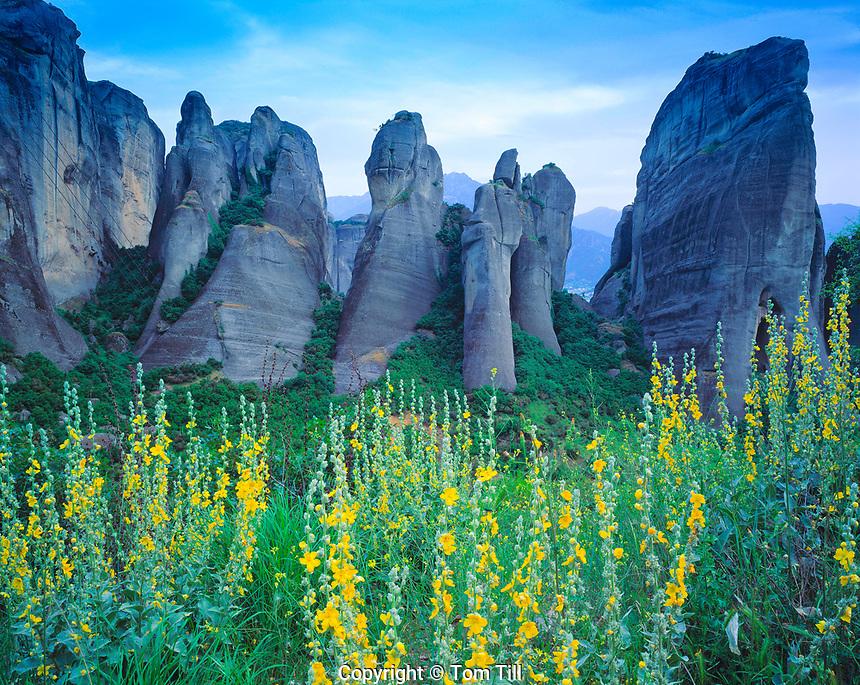 Rock Forms at Meteora, Meteora, Greece, Spires of welded tuff, UNESCO World Heritage Site