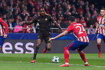 Atletico de Madrid Jose Maria Gimenez and Roma Gerson Santos during UEFA Champions League match between Atletico de Madrid and Roma at Wanda Metropolitano in Madrid, Spain. November 22, 2017. (ALTERPHOTOS/Borja B.Hojas)