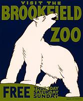 Brookfield zoo poster circa 1935