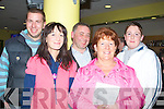 TRACK: Enjoying a night at the dogs at the Kingdom Greyhounmd Stadium, Tralee on Friday night, were the O'Connor family from Tarbert. l-r: Patrick,Sinead, Donie, Christine and Eric O'Connor..