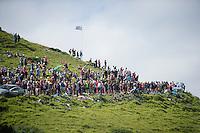 fans awaiting the peloton up the Port de Bal&egrave;s (HC/1755m/11.7km/7.7%)<br /> <br /> 2014 Tour de France<br /> stage 16: Carcassonne - Bagn&egrave;res-de-Luchon (237km)