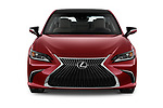 Car photography straight front view of a 2019 Lexus ES 350 4 Door Sedan