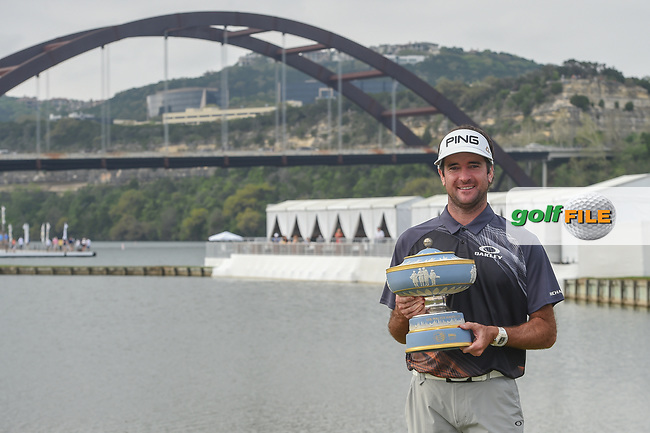 Bubba Watson (USA) holds The Walter Hagen Cup for winning the World Golf Championships, Dell Match Play, Austin Country Club, Austin, Texas. 3/25/2018.<br /> Picture: Golffile | Ken Murray<br /> <br /> <br /> All photo usage must carry mandatory copyright credit (© Golffile | Ken Murray)