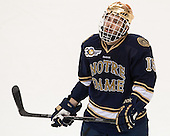 Peter Schneider (ND - 15) - The visiting University of Notre Dame Fighting Irish defeated the Boston College Eagles 7-2 on Friday, March 14, 2014, in the first game of their Hockey East quarterfinals matchup at Kelley Rink in Conte Forum in Chestnut Hill, Massachusetts.