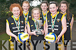 Girl Power was evident at Glenbeigh National School when their team returned home triumphant from the All Ireland spike ball finals last week. .Front L-R Tiarna and Shauna Sheahan and Amy Morris. .Back L-R Rachel Sheahan, Chloe Cahill and Ailbhe Clifford.