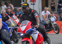 Carl Cox. The 2018 Suzuki series Cemetery Circuit motorcycle racing at Cooks Gardens in Wanganui, New Zealand on Wednesday, 28 December 2018. Photo: Dave Lintott / lintottphoto.co.nz