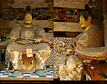 Yomeimon Gate Sculpture Detail Archer Guarding Gate Composite Image Honsha Central Shrine Nikko Toshogu Shrine Nikko Japan