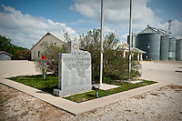 A sign shows the the 2004 2A football State Championship team in Crawford, Texas, US, Wednesday, April 14, 2010. While President Bush remains a popular images in the town, local sports teams are a  clear source of pride...PHOTO/ MATT NAGER