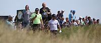 Tyrrell Hatton (ENG) on his phone during a practice round ahead of the 148th Open Championship, Royal Portrush Golf Club, Portrush, Antrim, Northern Ireland. 16/07/2019.<br /> Picture David Lloyd / Golffile.ie<br /> <br /> All photo usage must carry mandatory copyright credit (© Golffile | David Lloyd)