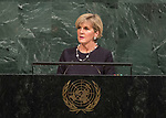 72 General Debate – 22 September <br /> <br /> <br /> <br /> Australian Minister for Foreign Affairs, Julie Bishop
